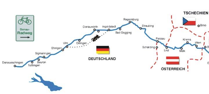 Donauradweg Ulm Passau Karte.Donau Radweg Mit Dem Rollstuhl Auf Dem Donauradweg Von